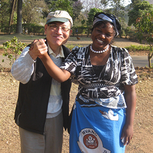 Lindirabe G. Mazinyane, Executive Director, Blantyre Synod Health and Development Commission of Malawi (right), with Dr. Sang C. Park, Shadyside Presbyterian Church