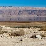 Pictured is the Judean desert in Qumran, Israel, near the northern shore of the Dead Sea. The surroundings of this region provide the setting for Jesus' forty days of temptation in the wilderness (Matthew 4:1-11; Mark 1:12-13; and Luke 4:1-13). Photograph © iStock.com/Gosiek-B.
