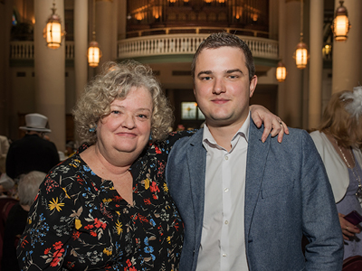 Pearl of Hope Honoree Ann Brooks with her son, Gordon Mann