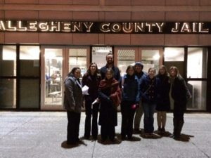 Carolers for HOPE at the Allegheny County Jail