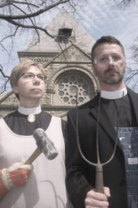 Shadyside Gothic: Rev. Lynn Portz and Rev. Todd Leach reimagine Grant Wood's familiar painting.